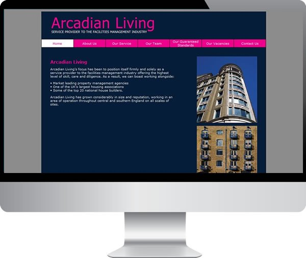 Arcadian Living | Websites by Mark