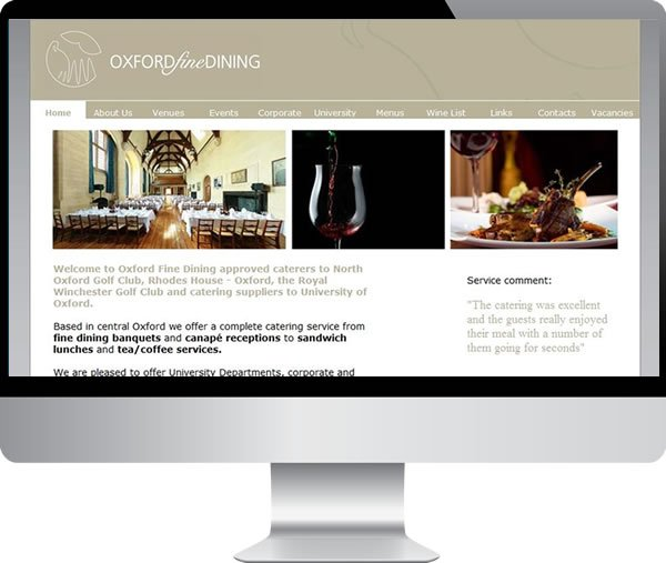 Oxford fine dining | Websites by Mark