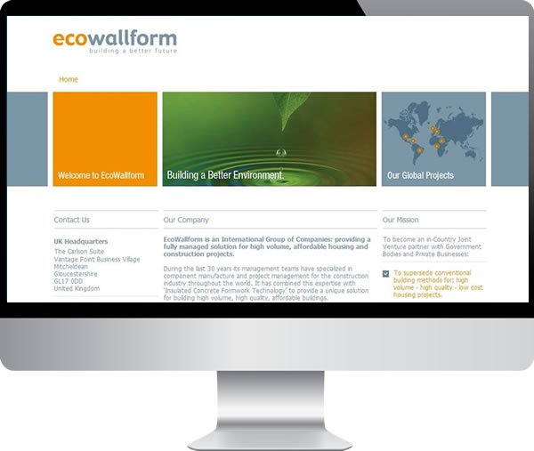 Ecowallform | Websites by Mark