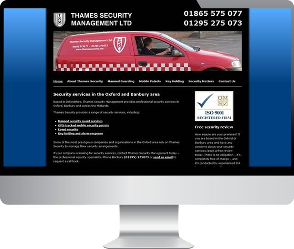 Thames Security – Websites by Mark