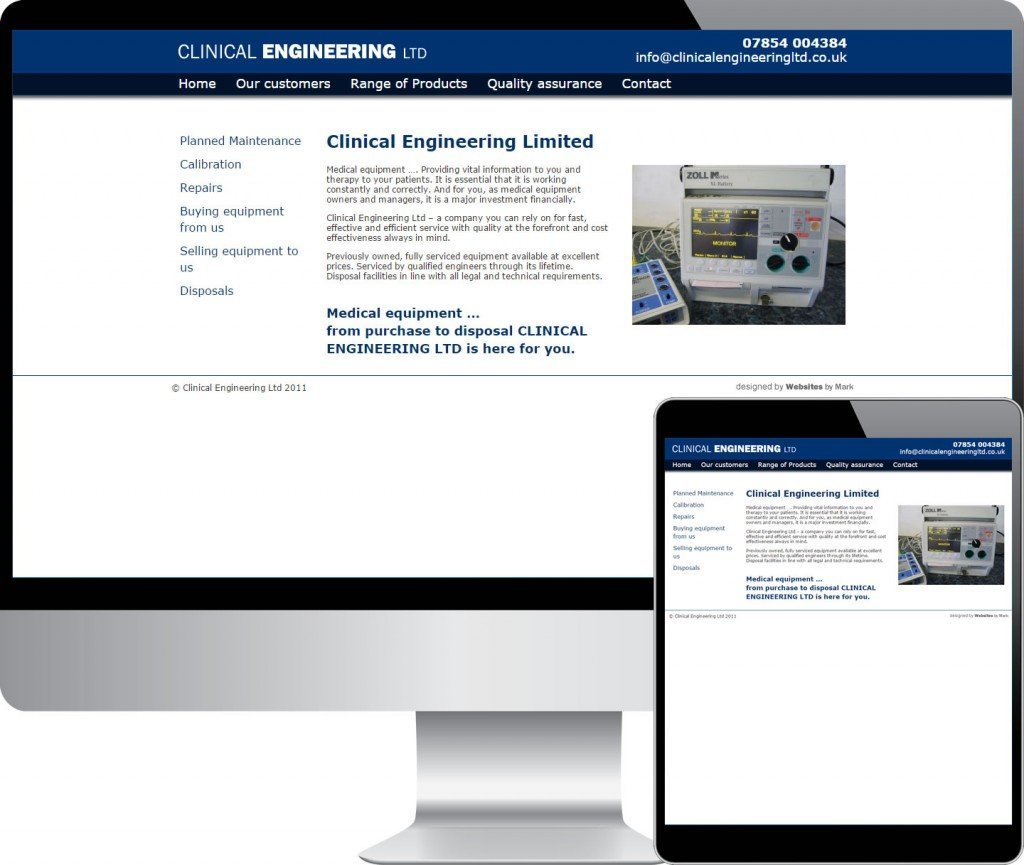 Clinical engineering ltd portfolio shot websites by mark for Household articles ltd registered design