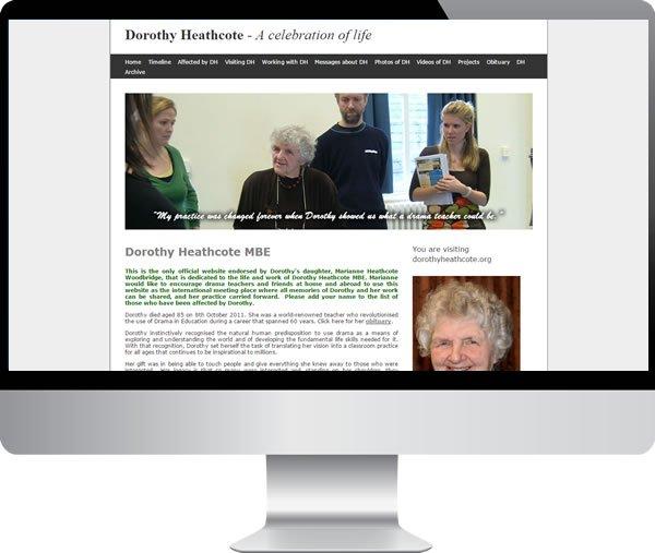 Dorothy Heathcote – Websites by Mark