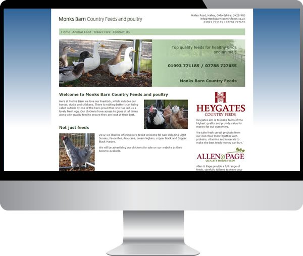 Monks Barn – Websites by Mark