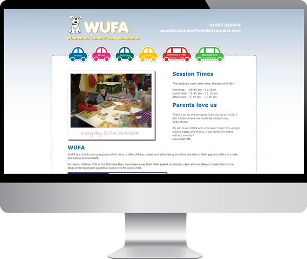 WUFA Woodstock under fives – Websites by Mark