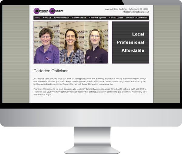 Carterton Opticians – Websites by Mark