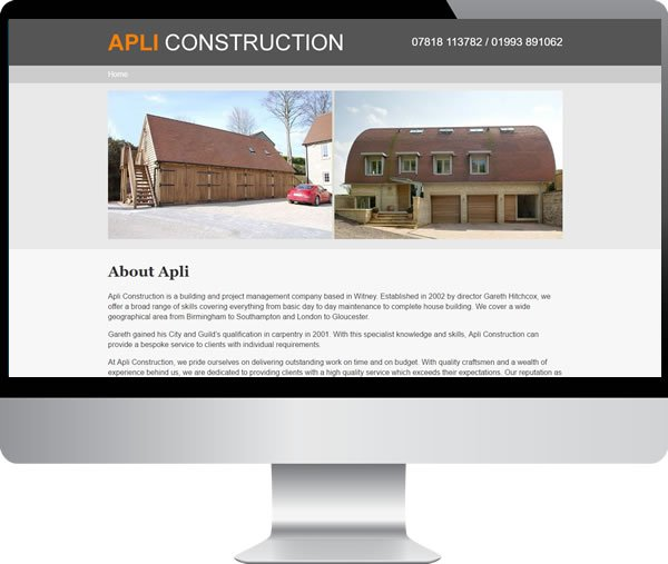 Apli Construction Ltd | Websites by Mark