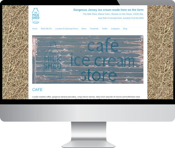 The milk shed – Websites by Mark