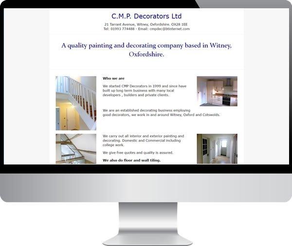 CMP Decorators – Websites by Mark