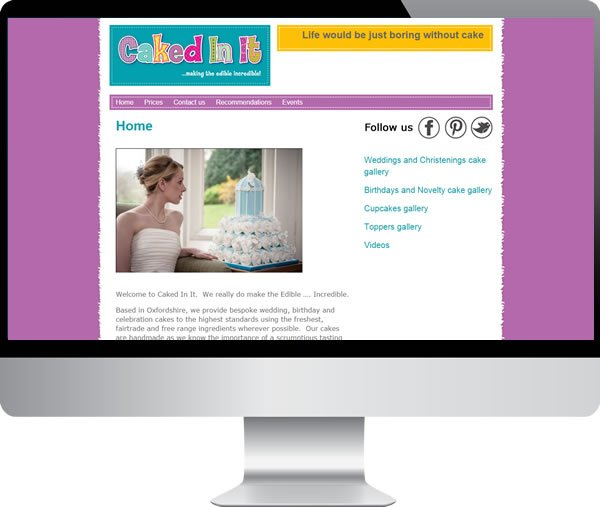Caked In It – Websites by Mark