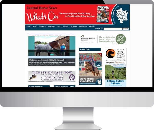 Central Horse News – Websites by Mark