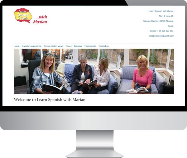 Learn Spanish with Marian | Websites by Mark