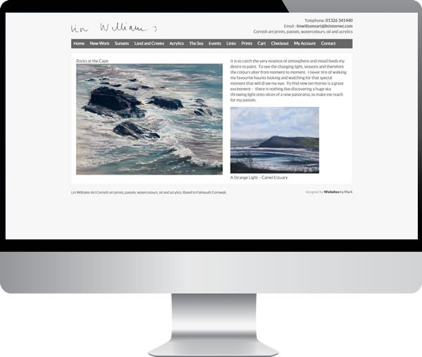 Lin Williams Art – Websites by Mark