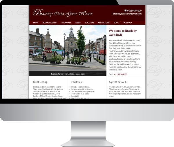 Brackley Oaks Guest House | Websites by Mark