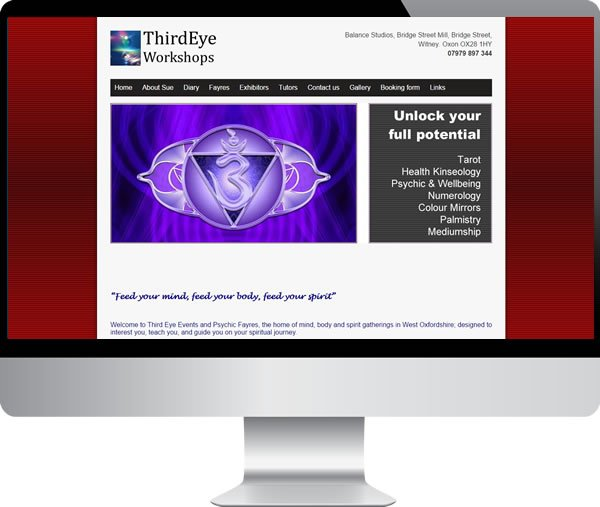 Third Eye Workshops | Websites by Mark
