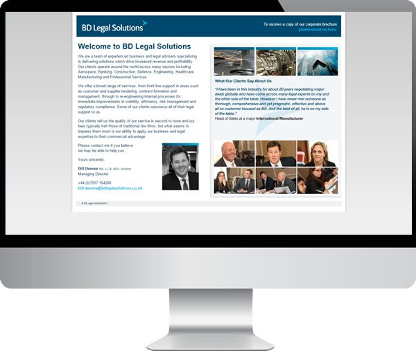 BD Legal Solutions – Websites by Mark