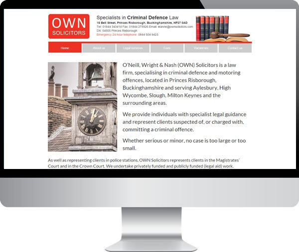 OWN Solicitors – Websites by Mark
