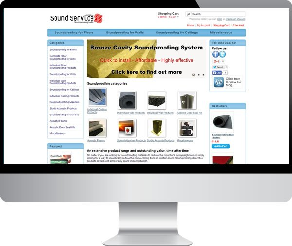 Soundproofing Direct – Websites by Mark