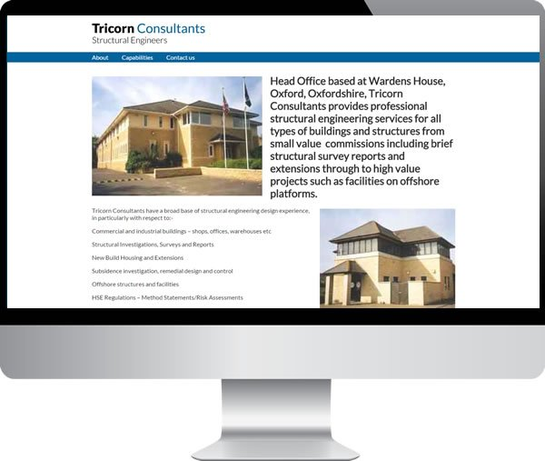 Tricorn Consultants | Websites by Mark
