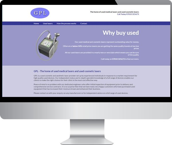 General Practice Lasers Ltd – Websites by Mark