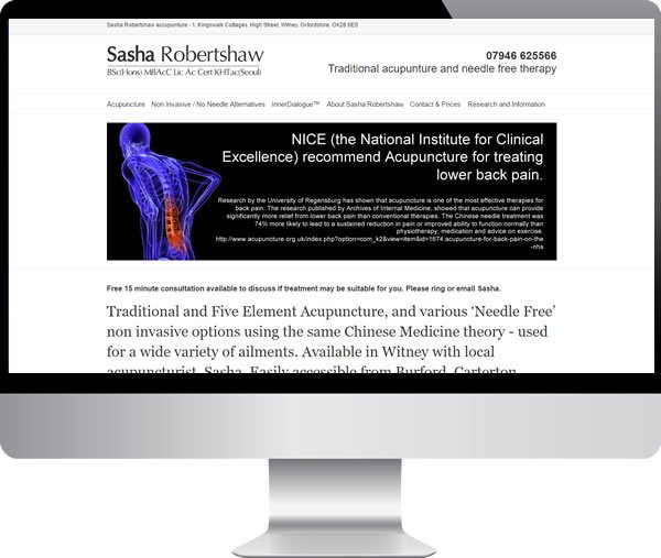 Sasha Robertshaw – Websites by Mark