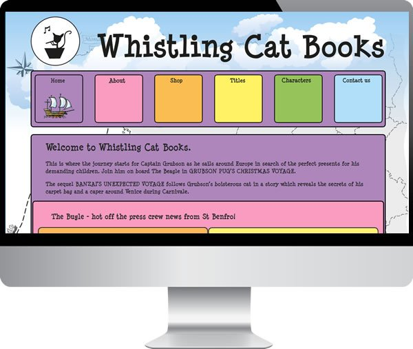 Whistling cat books | Websites by Mark