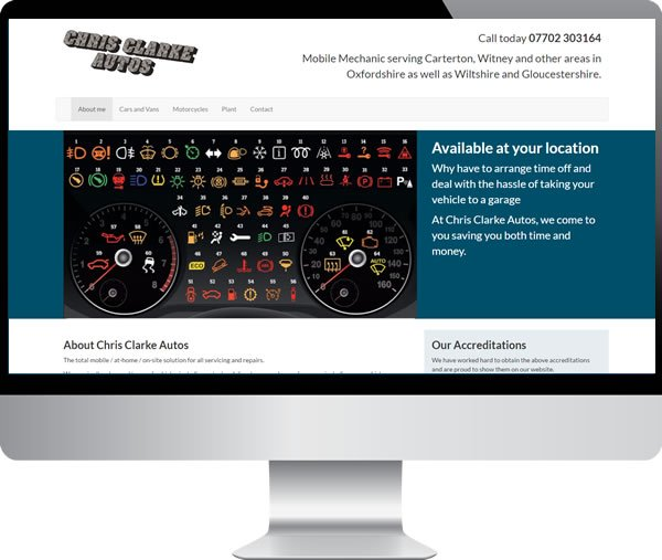 Chris Clarke Autos | Websites by Mark