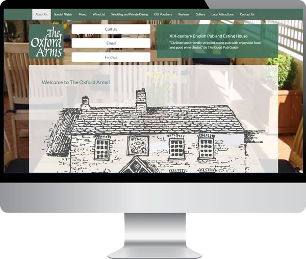 Oxford Arms | Websites by Mark