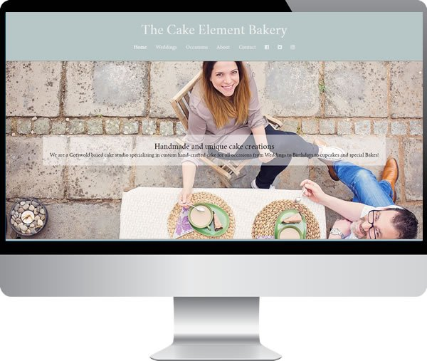The Cake Element Bakery – Websites by Mark