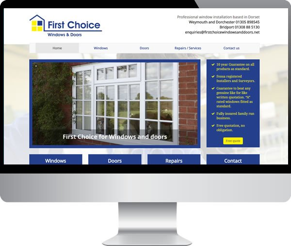 First Choice Windows – Websites by Mark