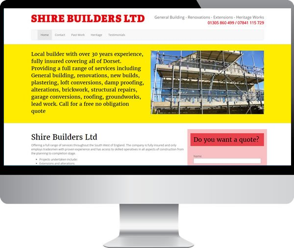 Shire Builders Ltd – Websites by Mark