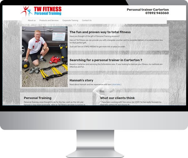 TW Fitness redesign