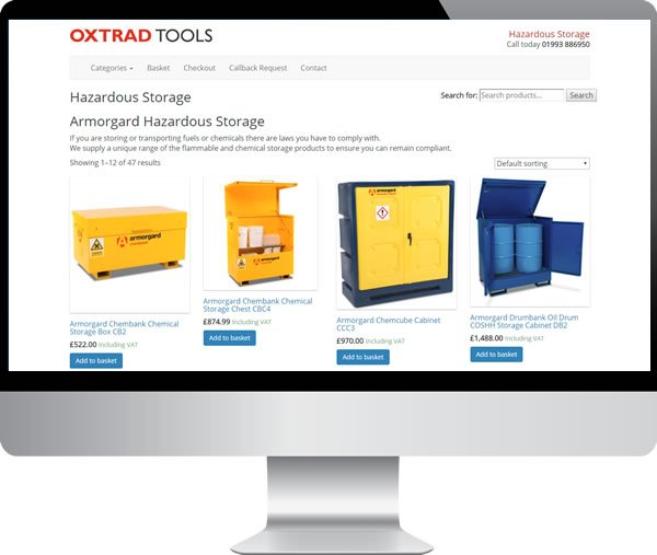 Oxtrad Tools Ltd | Websites by Mark